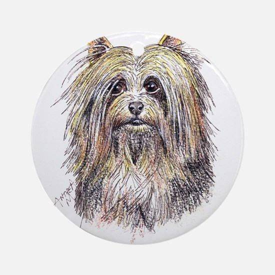 Silky Terrier Ornament (Round)