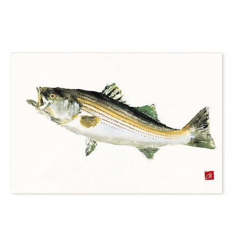 Striped Bass Gyotaku Postcards (Package of 8)