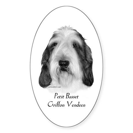 Petit Basset Griffon Vendeen Sticker (Oval 10 pk)