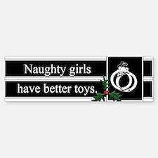 Naughty Girls Sticker (Bumper)