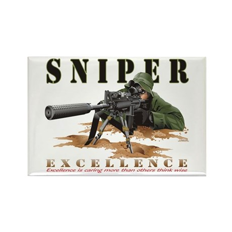 Police Sniper Rectangle Magnet (100 pack)