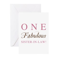 One Fabulous Sister-In-Law Greeting Cards (Pk of 1