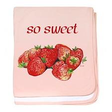 So Sweet (Strawberries) baby blanket