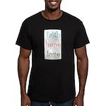 Faith Hope Love Men's Fitted T-Shirt (dark)