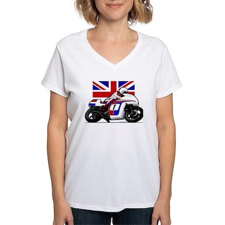 Norton British Twins Women's V-Neck T-Shirt
