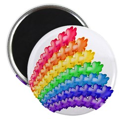 4-leaf Clovers and Rainbows Magnet