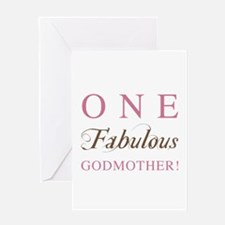One Fabulous Godmother Greeting Card
