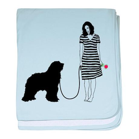Bergamasco Sheepdog baby blanket