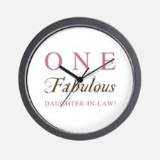 One Fabulous Daughter-In-Law Wall Clock