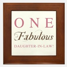 One Fabulous Daughter-In-Law Framed Tile