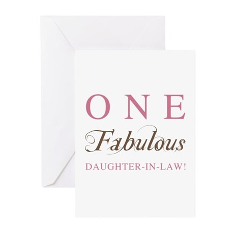 One Fabulous Daughter-In-Law Greeting Cards (Pk of