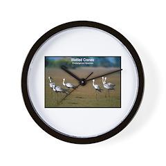 Wattled Cranes Bird Photo Wall Clock