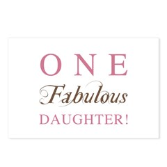 One Fabulous Daughter Postcards (Package of 8)