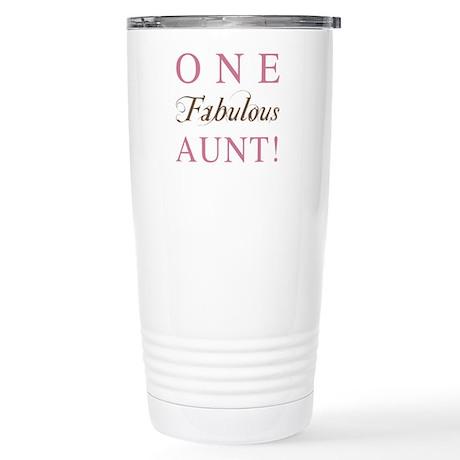 One Fabulous Aunt Stainless Steel Travel Mug