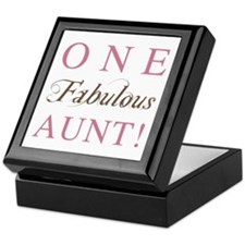 One Fabulous Aunt Keepsake Box