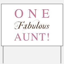 One Fabulous Aunt Yard Sign