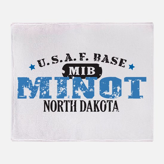 Minot Air Force Base Throw Blanket
