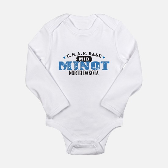 Minot Air Force Base Long Sleeve Infant Bodysuit