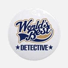 Detective Gift Ornament (Round)