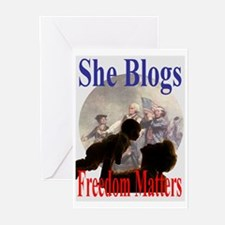 SHE BLOGS Greeting Cards (Pk of 10)
