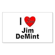 I Love Jim DeMint Decal