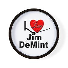 I Love Jim DeMint Wall Clock