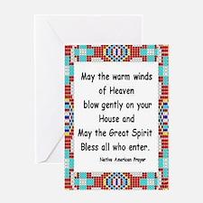 INDIAN PRAYER Greeting Card