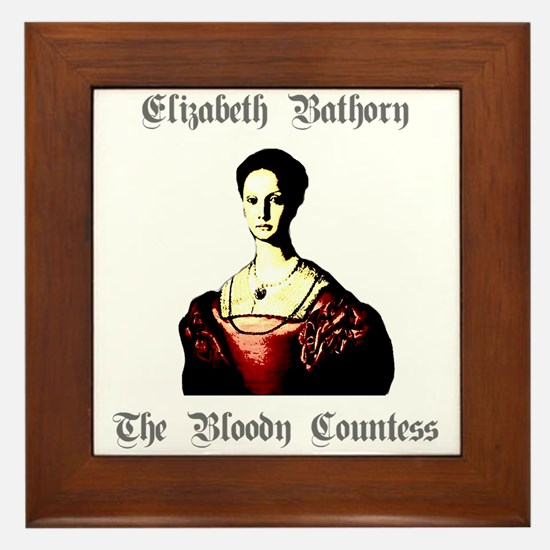 Elizabeth Bathory Framed Tile