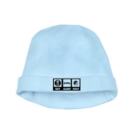 Eat Sleep Golf baby hat