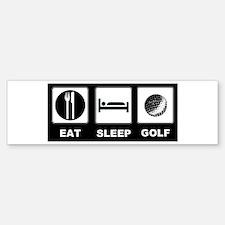 Eat Sleep Golf Sticker (Bumper)