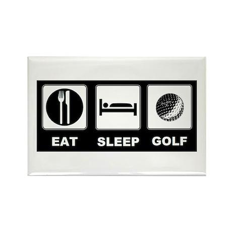 Eat Sleep Golf Rectangle Magnet (100 pack)