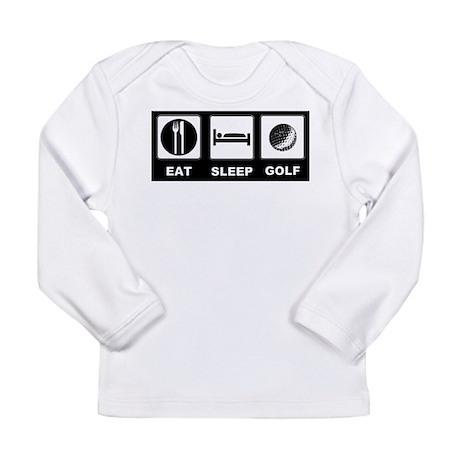 Eat Sleep Golf Long Sleeve Infant T-Shirt