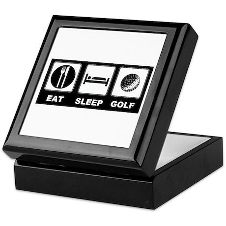 Eat Sleep Golf Keepsake Box