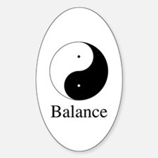 Daoist Balance Sticker (Oval)