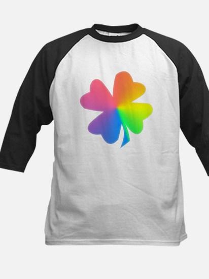 Rainbow Clover Kids Baseball Jersey