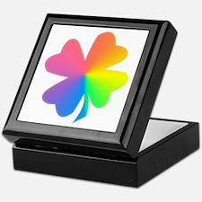 Rainbow Clover Keepsake Box
