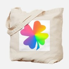 Rainbow Clover Tote Bag
