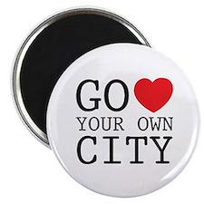 """Go love your own City origina 2.25"""" Magnet (10 pac"""