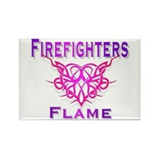 Cute Firefighters girlfriend Rectangle Magnet