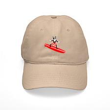 Boston Terrier Surfer Baseball Cap