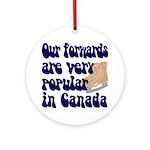 Popular forwards Ornament (Round)