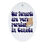 Popular forwards Oval Ornament