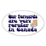 Popular forwards Oval Sticker