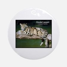 Clouded Leopard Photo Ornament (Round)