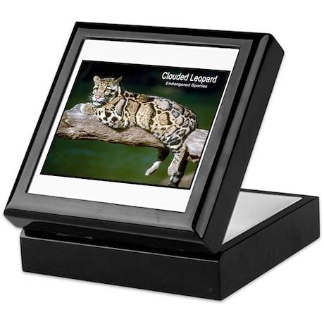 Clouded Leopard Photo Keepsake Box