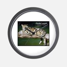 Clouded Leopard Photo Wall Clock