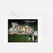 Clouded Leopard Photo Greeting Cards (Pk of 10
