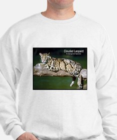 Clouded Leopard Photo (Front) Sweatshirt