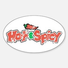 Hot & Spicy, Oval Decal