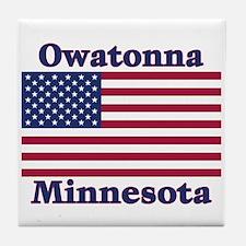 Owatonna US Flag Tile Coaster